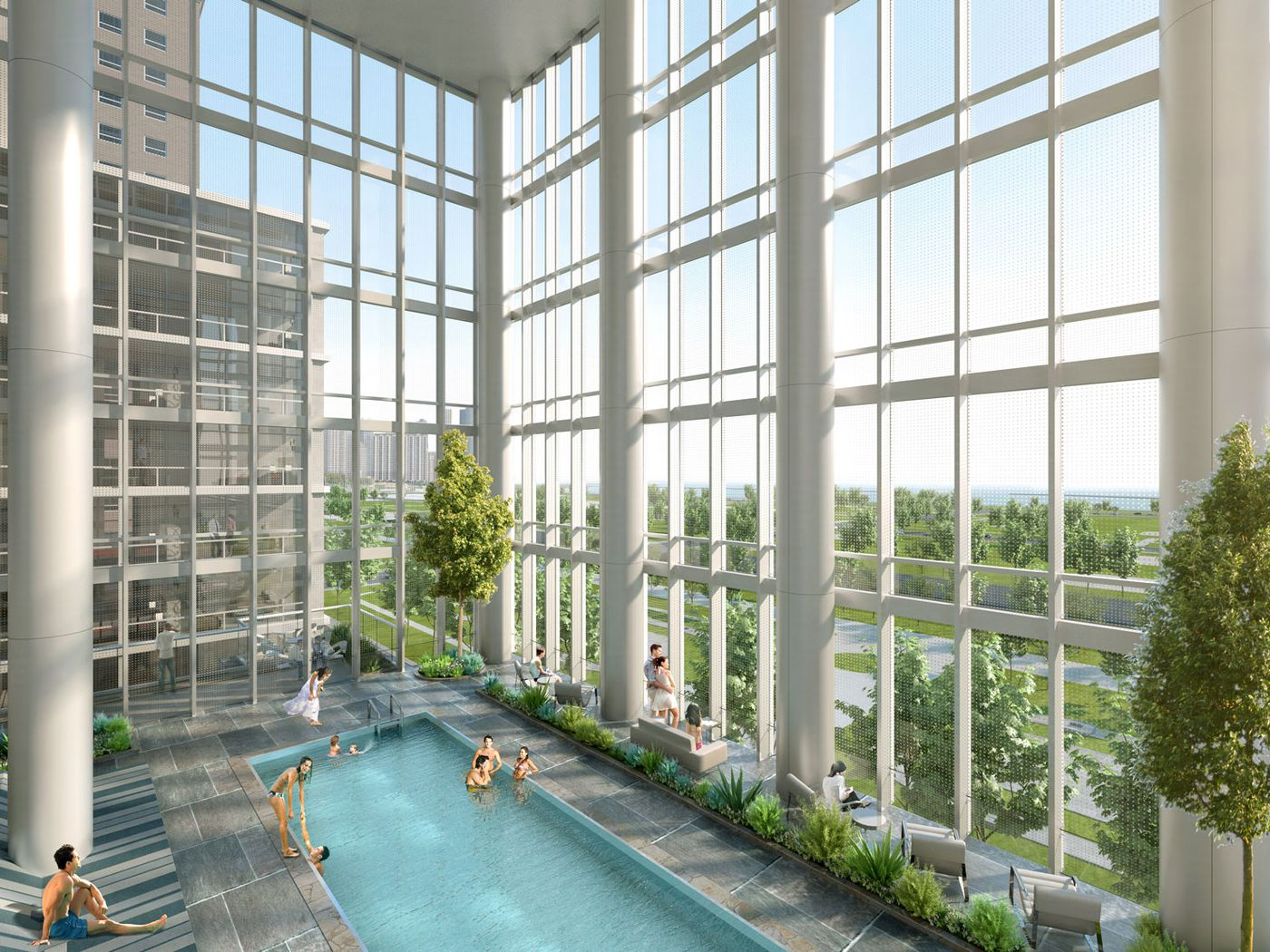 South Loop S Essex On The Park Apartment Tower Opens This Spring Curbed Chicago