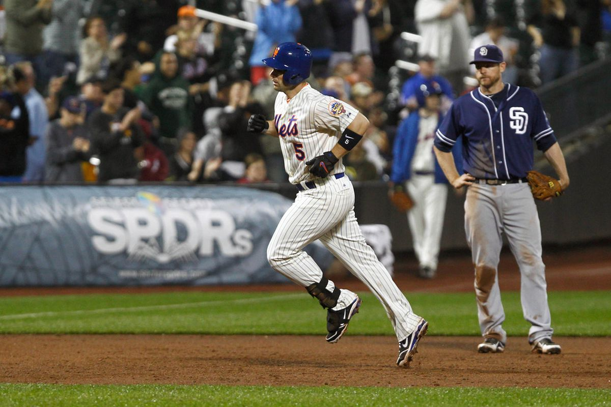 Hopefully we don't see too much of this in the series against the Mets.  David Wright trotting around the bases is never a good thing for us.  Debby Wong-US PRESSWIRE