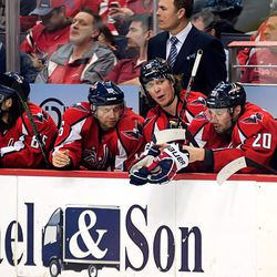 Fehr, Backstrom and Brouwer on Bench