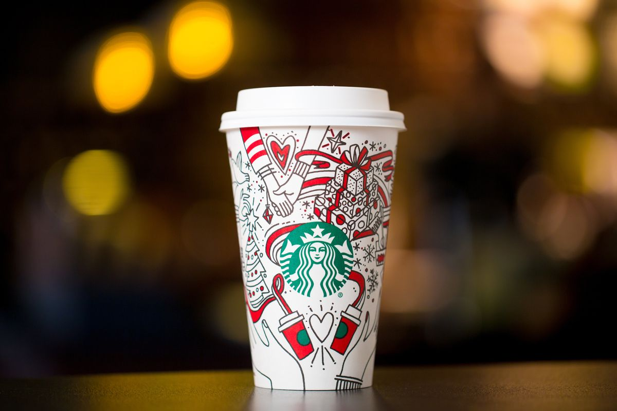 Starbucks Christmas Cups.A Brief History Of Starbucks Holiday Cup Controversies Eater