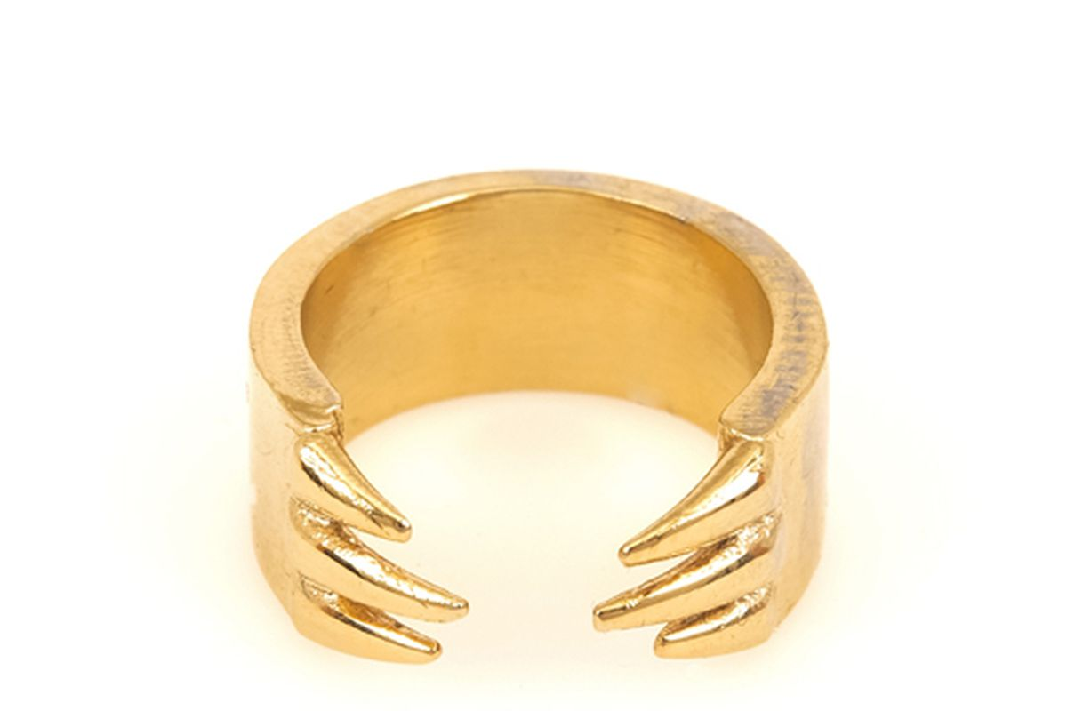 """Open Clawed Tube Ring, <a href=""""http://www.bandfcollective.com/detail/open-clawed-tube-ring"""">$60</a> at Bones and Feathers Collective"""
