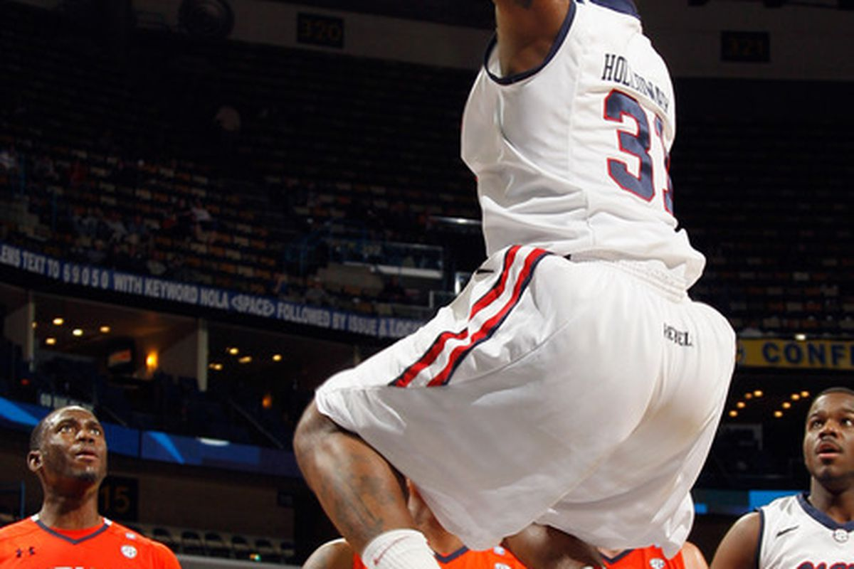 Ole Miss dispatched Auburn in one of four SEC Tournament games yesterday.