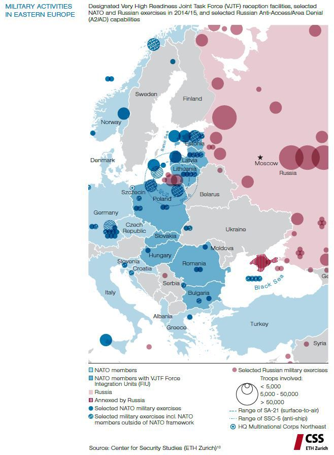 Baltic Europe Map.The Risk Of An Unintended War With Russia In Europe Explained In