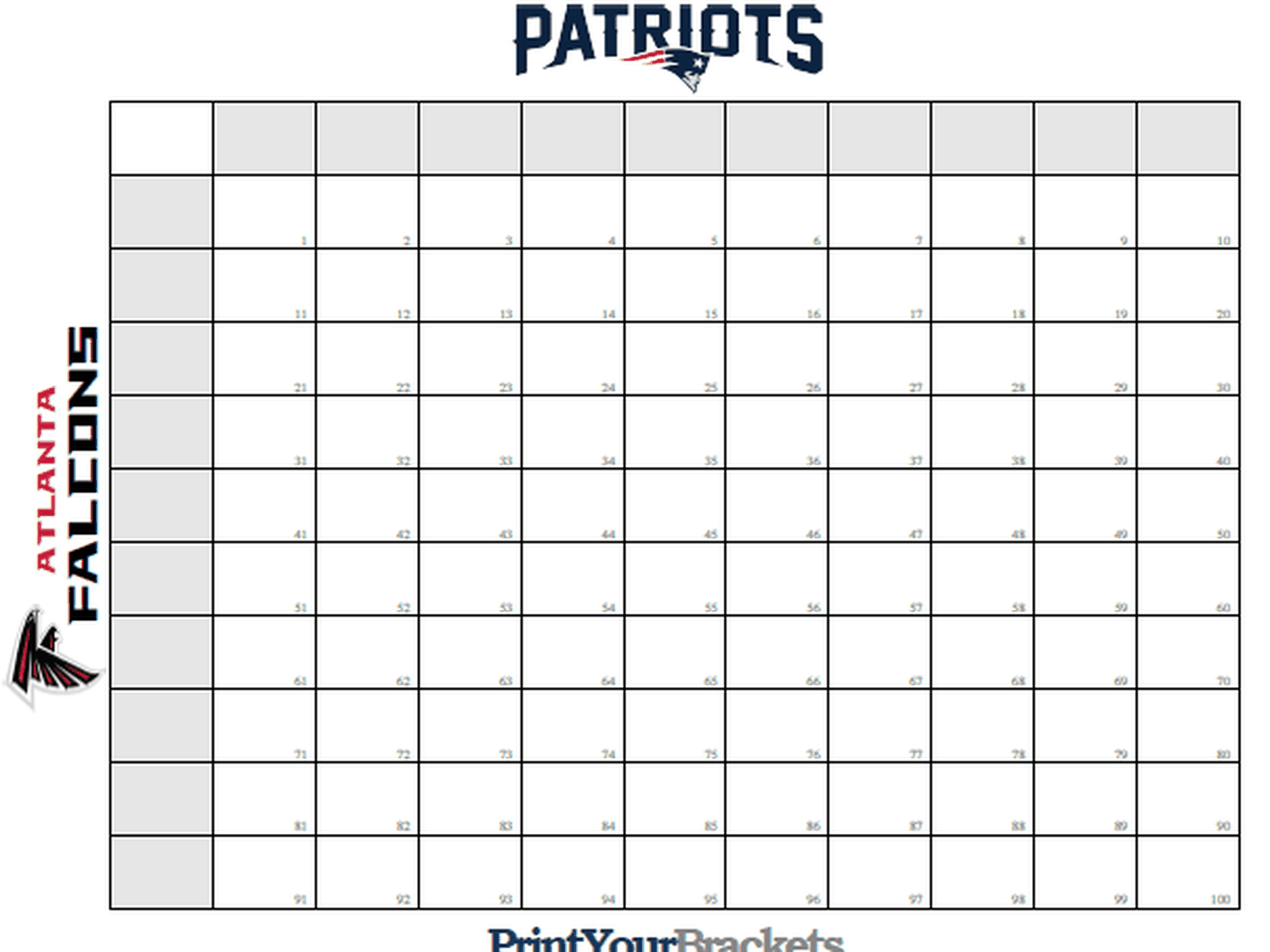 Super Bowl Squares Template How To Play