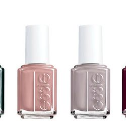 """<b>Essie</b> nail colors in Stylenomics, Don't Sweater It, Miss Fancy Pants, and Skirting the Issue, <a href=""""http://www.essie.com/latest-collection/"""">$8 each</a>"""