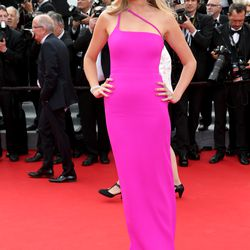 Lara Stone at 'The Search' premiere at the Cannes Film Festival in 2014.