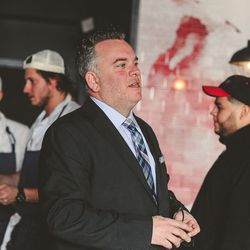 """GM Ben Fileccia, holding things down [Photo: Eater Philly/<a href=""""http://www.alyssamaloof.com"""">Alyssa Maloof</a>]"""