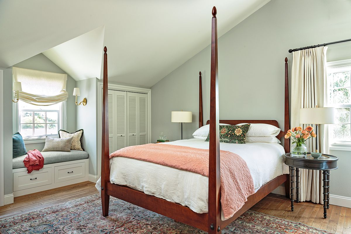Cape Cod-style house remodel in Los Angeles, CA, master bedroom