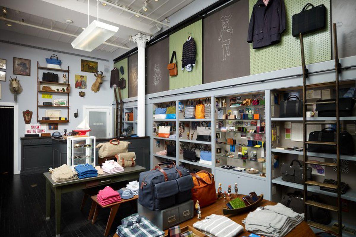 """Photo of the SoHo store via <a href=""""http://stevensclaroff.com/portfolio/commercial/jack-spade-soho/"""">Steven Sclaroff</a>"""