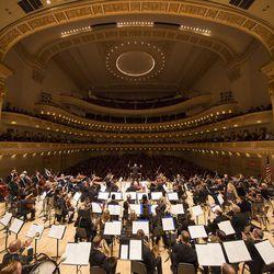Utah Symphony performing at Carnegie Hall in 2016.