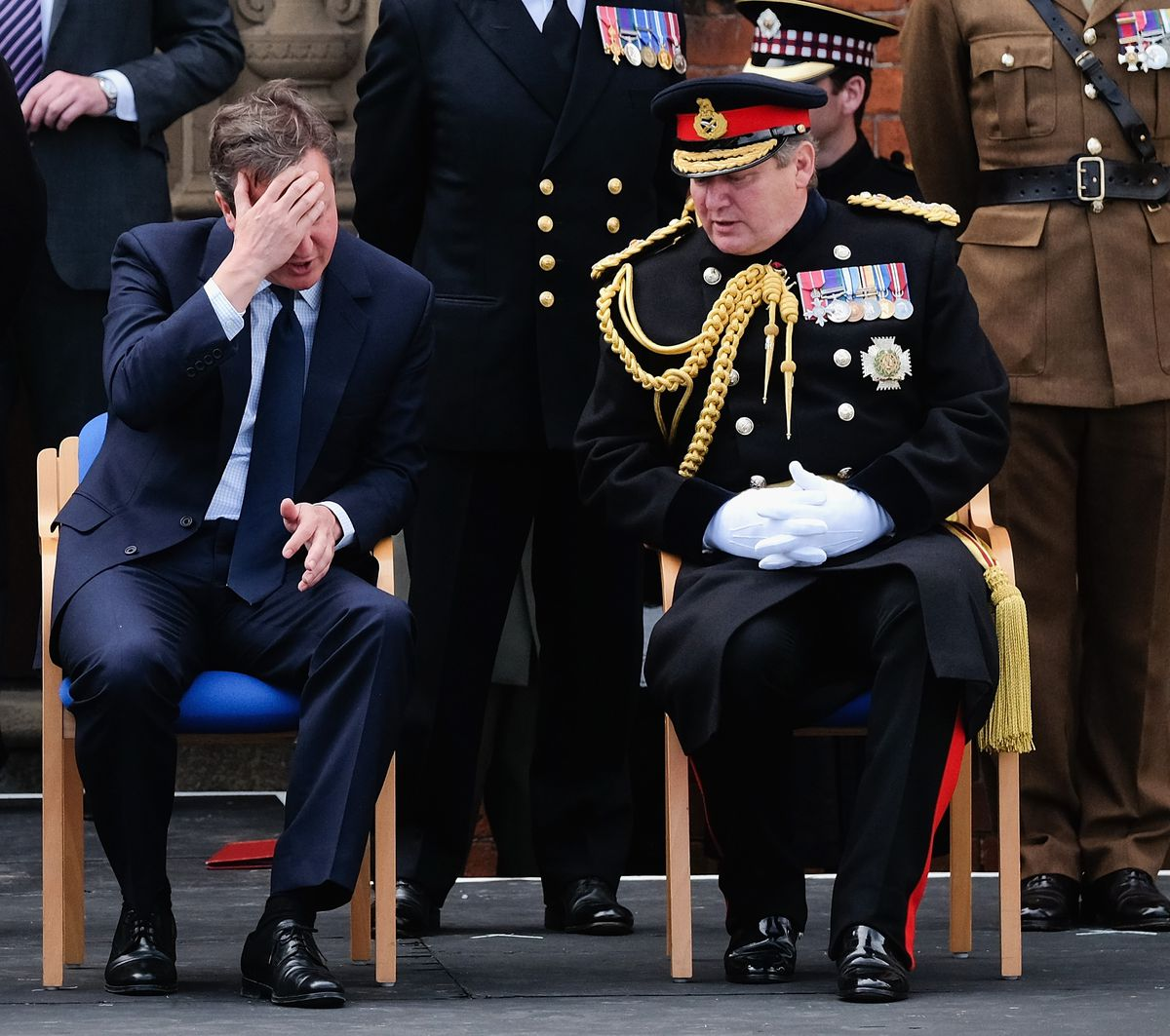 David Cameron Attends Armed Forces Day