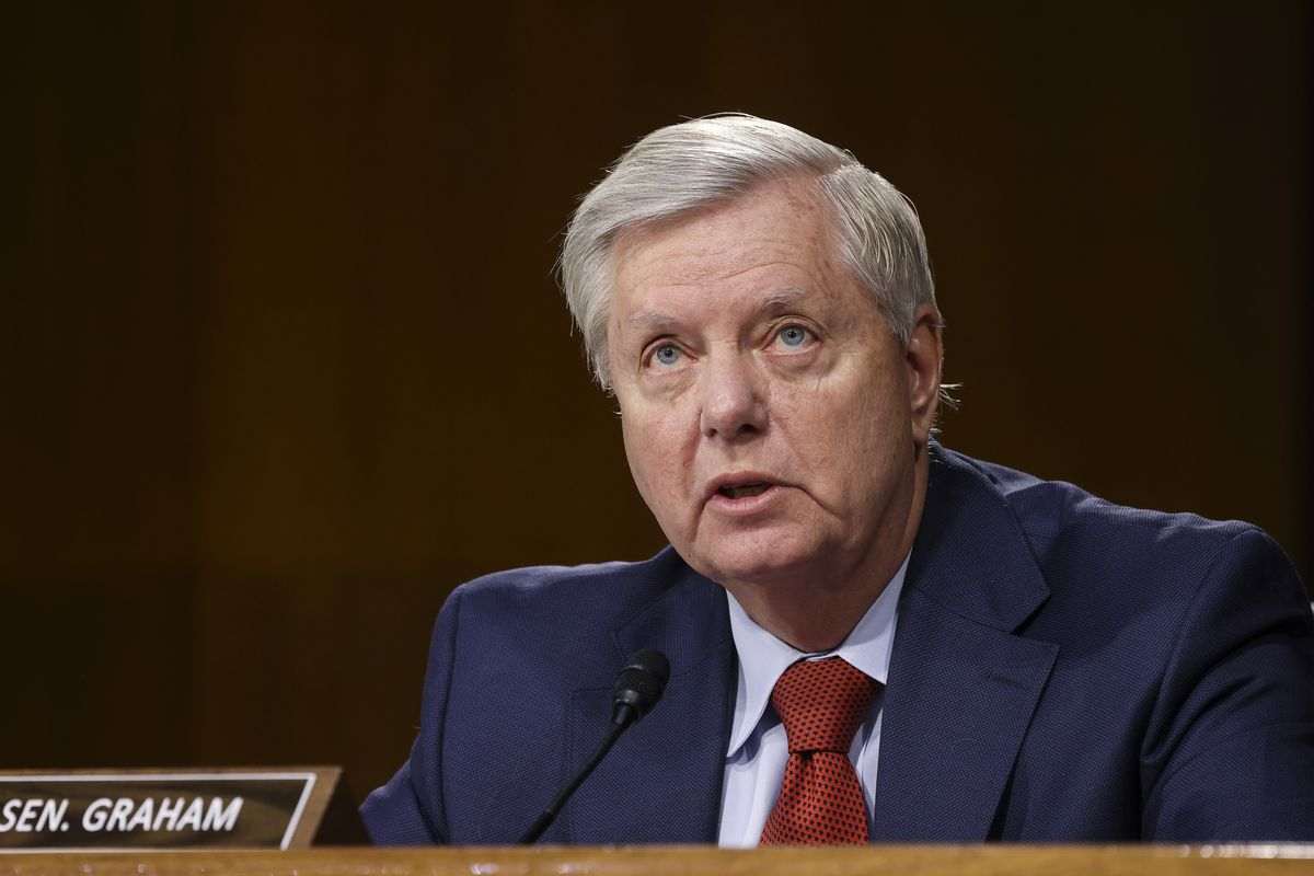 Sen. Lindsey Graham, R-S.C., speaks during a Senate Appropriations Committee hearing.