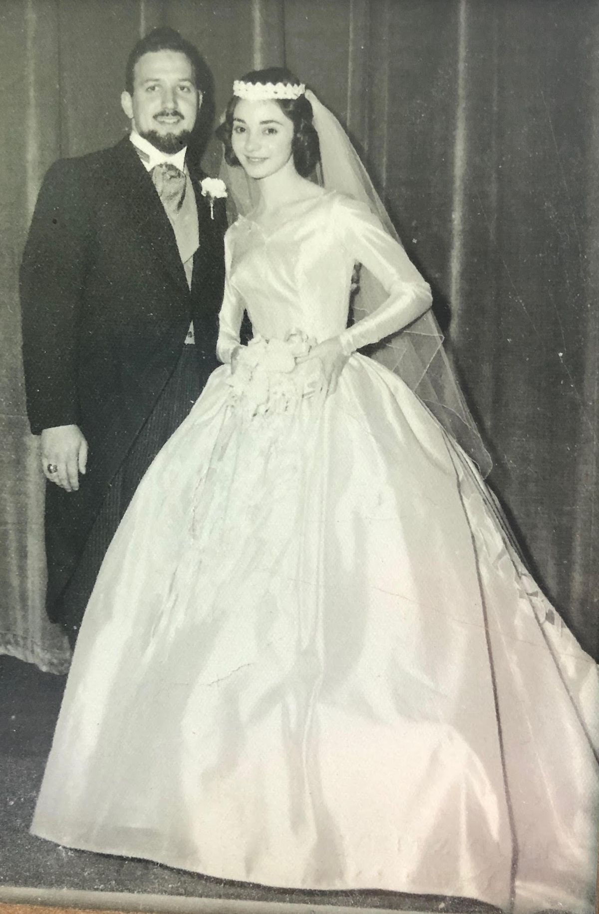 Leo and Helen Wolkow on their wedding day.