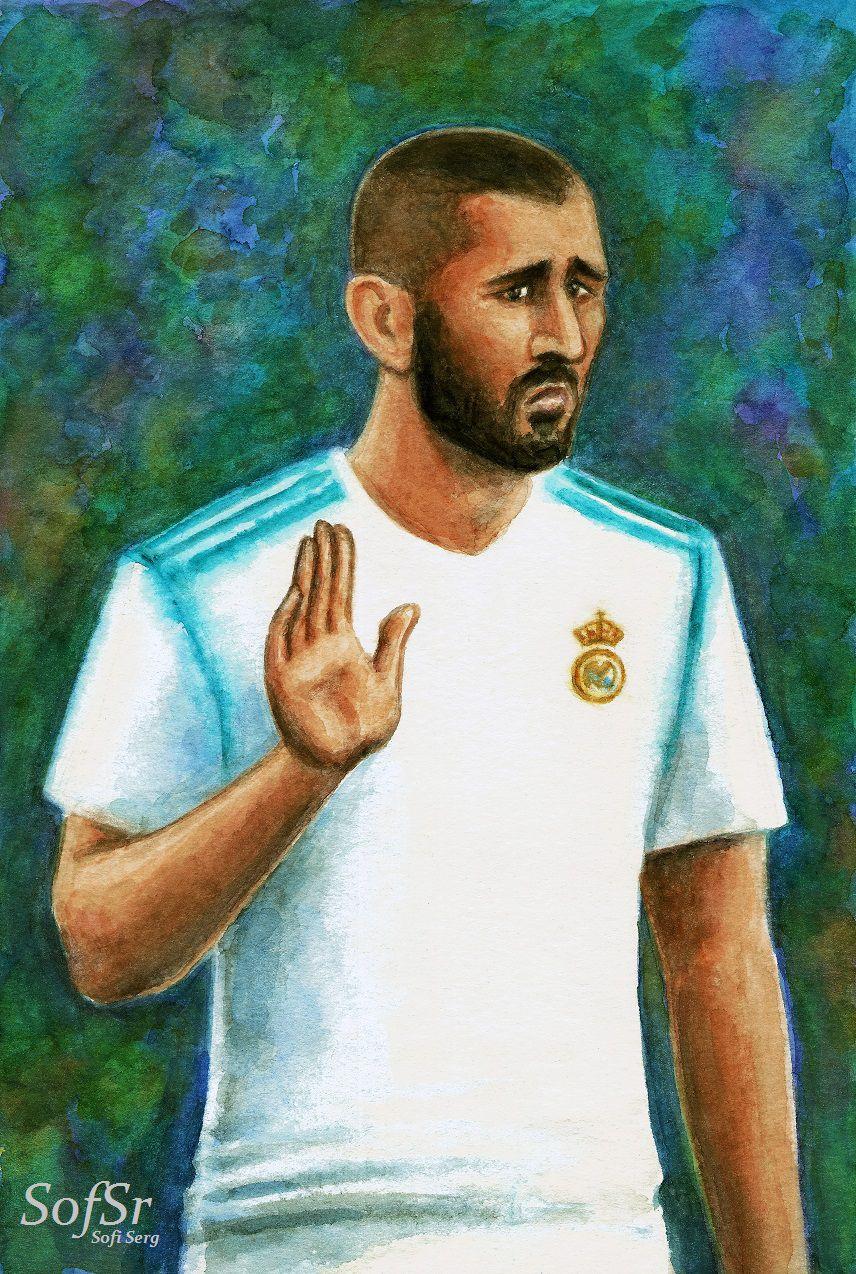 Karim Benzema. Drawing by Sofi Serg.