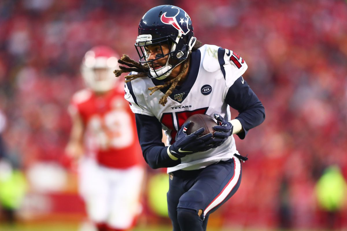 Houston Texans wide receiver Will Fuller V against the Kansas City Chiefs in a AFC Divisional Round playoff football game at Arrowhead Stadium.