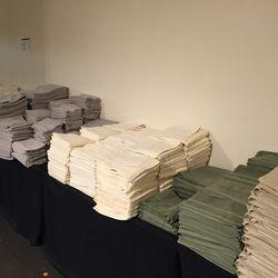 Bath towels ($20), hand towels ($5) and wash cloths ($2)