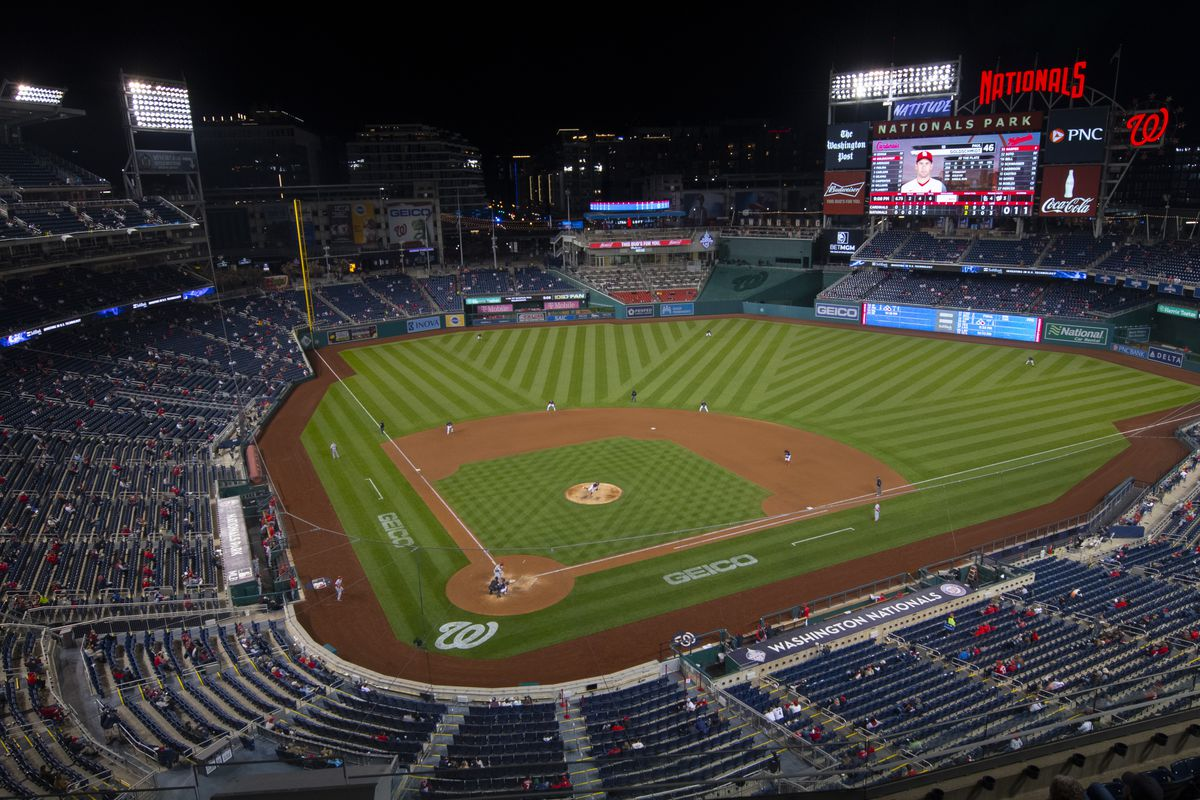A general view of Nationals Park during the game between the Washington Nationals and the St. Louis Cardinals.