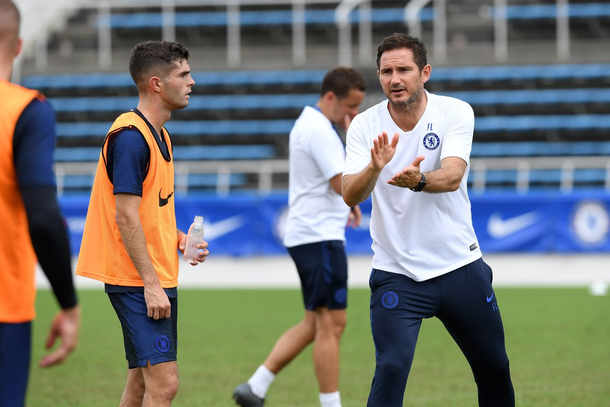 Christian Pulisic and Frank Lampard - Chelsea Pre-Season - Premier League