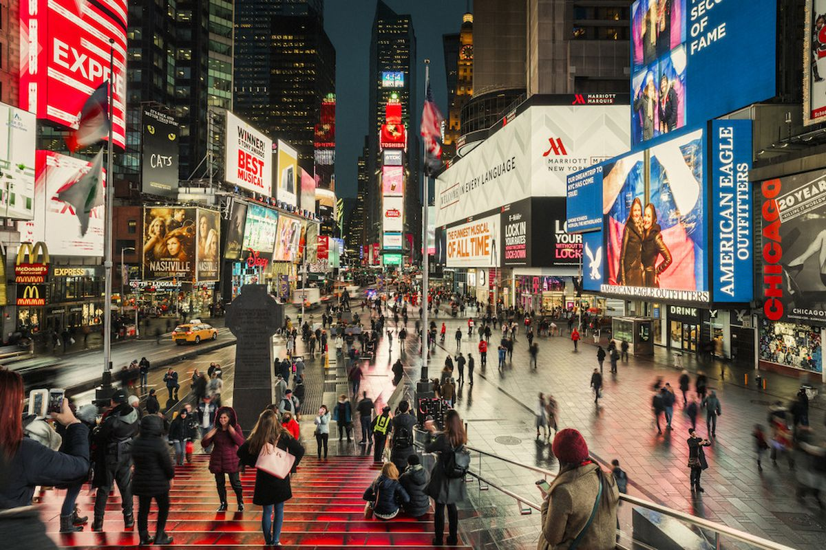 Times Square's transformation into a pedestrian-friendly