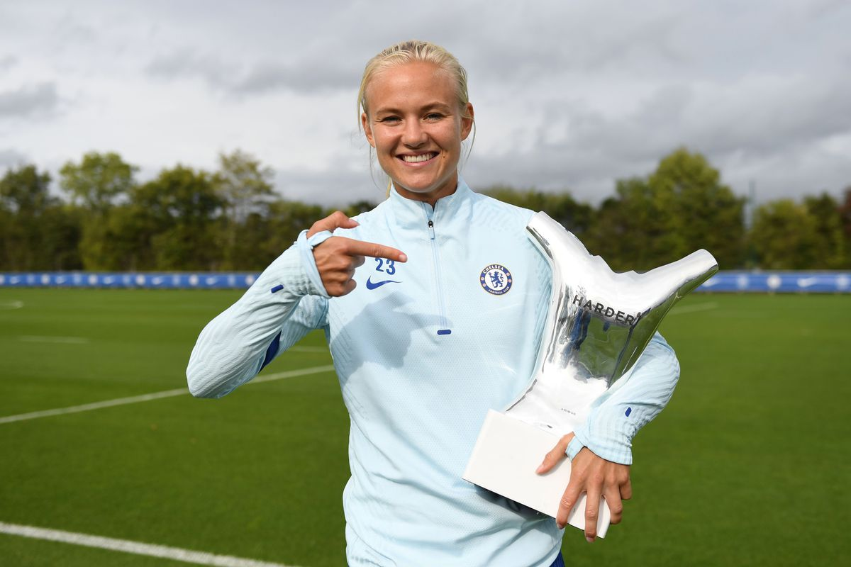 Pernille Harder receives UEFA Player of the Year and UEFA Forward of the Year Awards