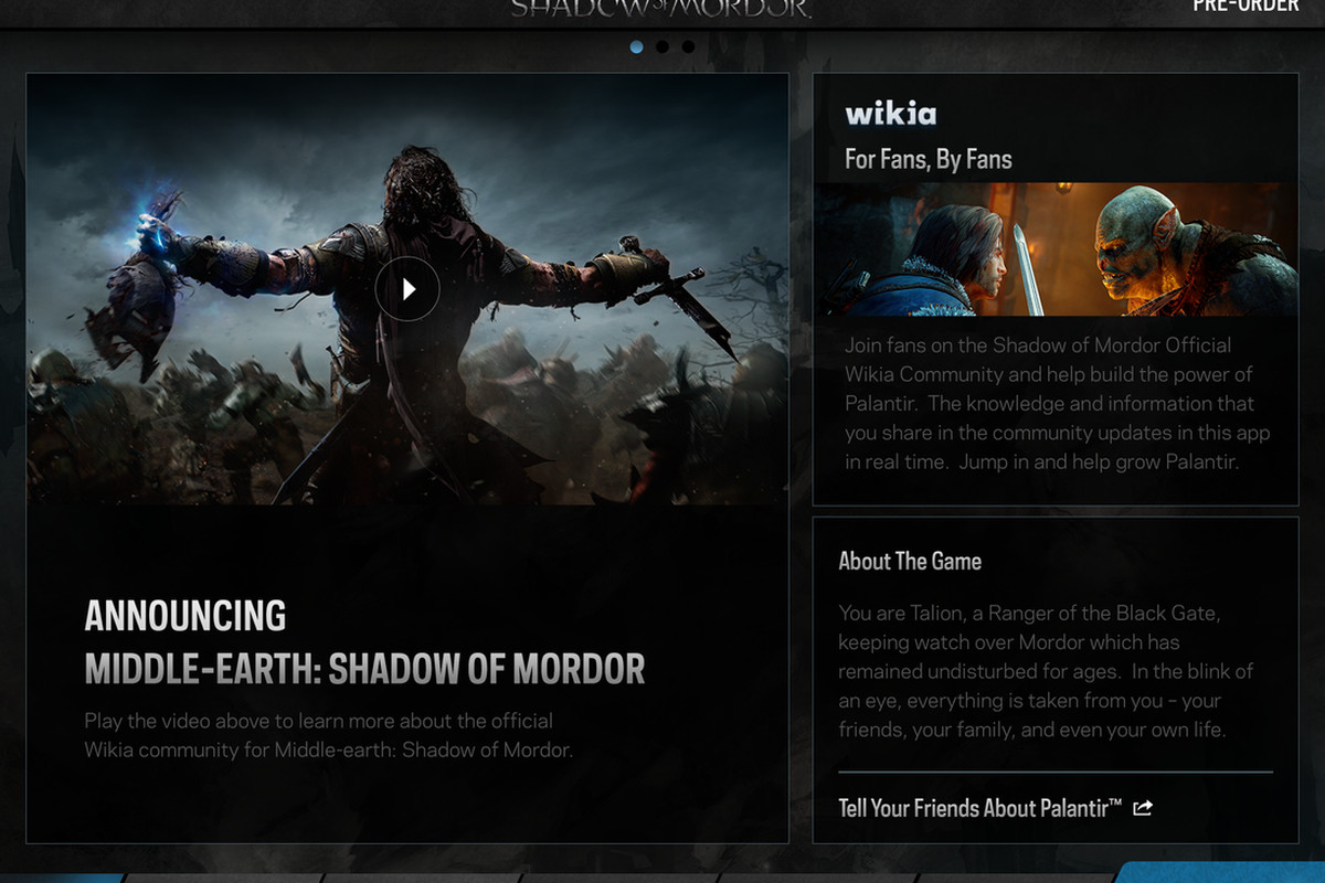 Peer into Middle-earth: Shadow of Mordor with the Palantir app - Polygon