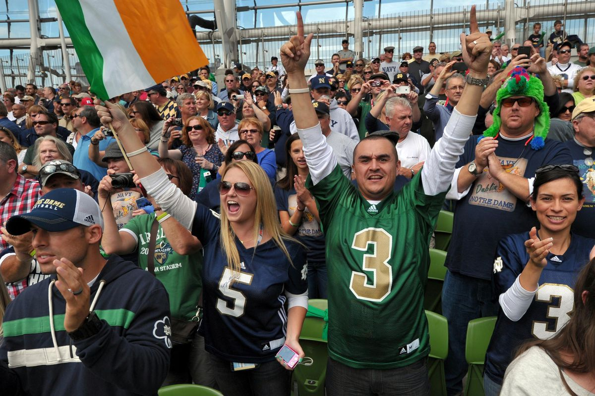 All the Fighting Irish to cheer for.