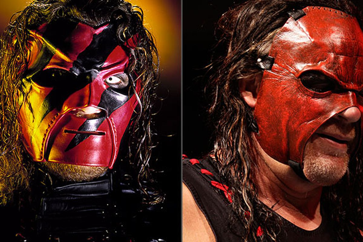 wwe why did kane return wearing a mask cageside seats