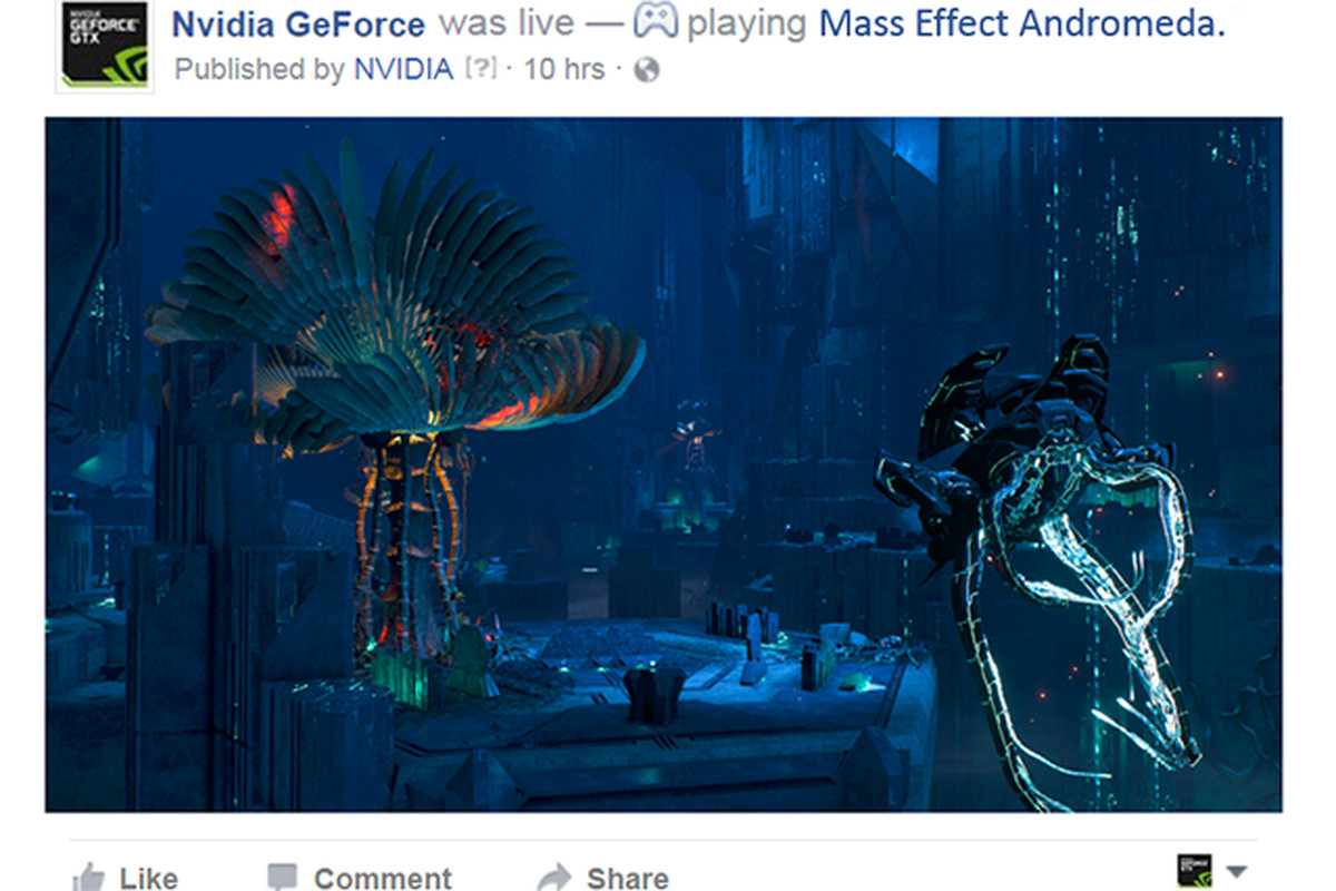 Broadcast live to Facebook with Nvidia Geforce Experience upgrade
