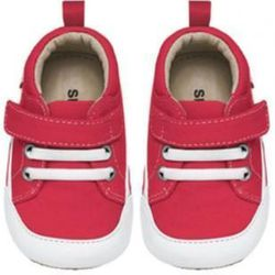 """<i>See Kai Run Cody Sneakers at <a href=""""http://www.tinyhanger.com/store/see-kai-run-cody(orig-$38)/dp/8308"""">Tiny Hanger</a> (14 Pleasant St., Brookline)</i> <br> For the tiny jetsetter, or just those eager to run across the playground, Coolidge Corner'"""