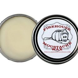"""Available in light, tacky, and dark, these small batch waxes are handmade in Mississippi by a firefighter, and boast """"superior hold to moisture/humidity, heat, wind or any weather condition"""". <strong>Firehouse</strong> Moustache Wax, <a href=""""http://minne"""