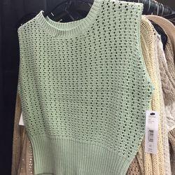 Mint sample sweater, $49