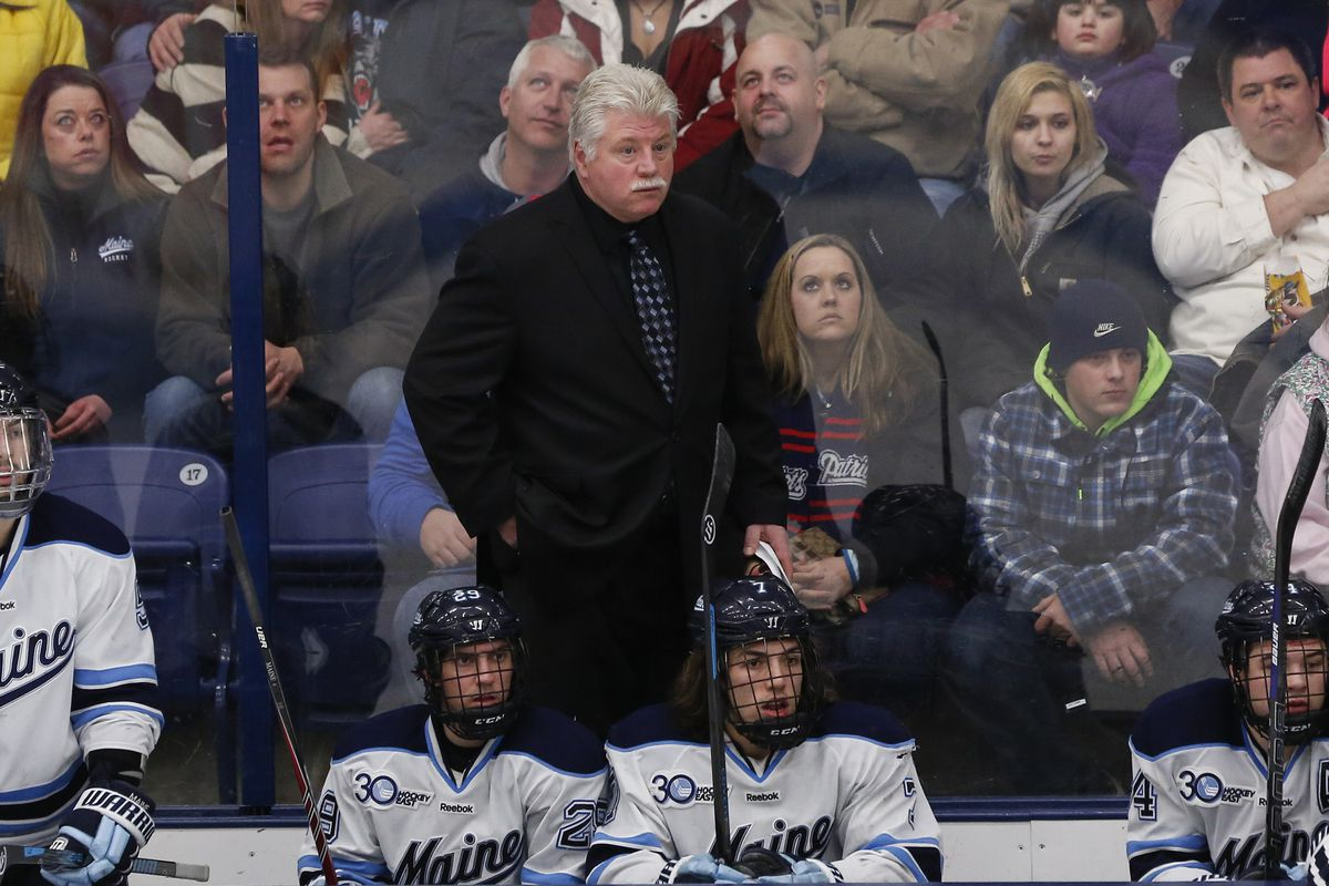 Maine head coach Red Gendron