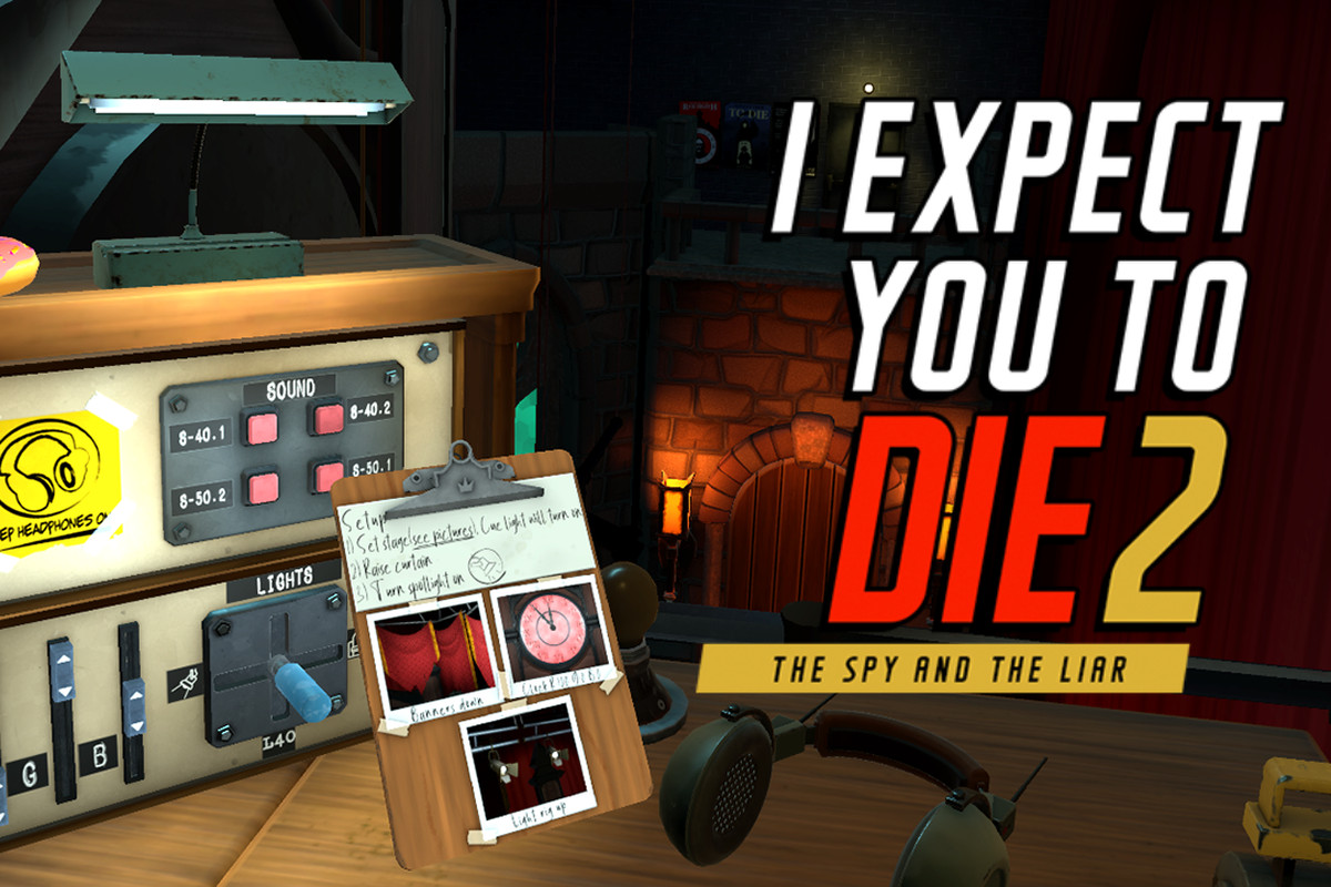 I Expect You To Die 2 logo over a gameplay image