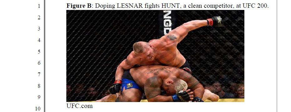 Mark Hunt UFC Lawsuit - Lesnar GnP