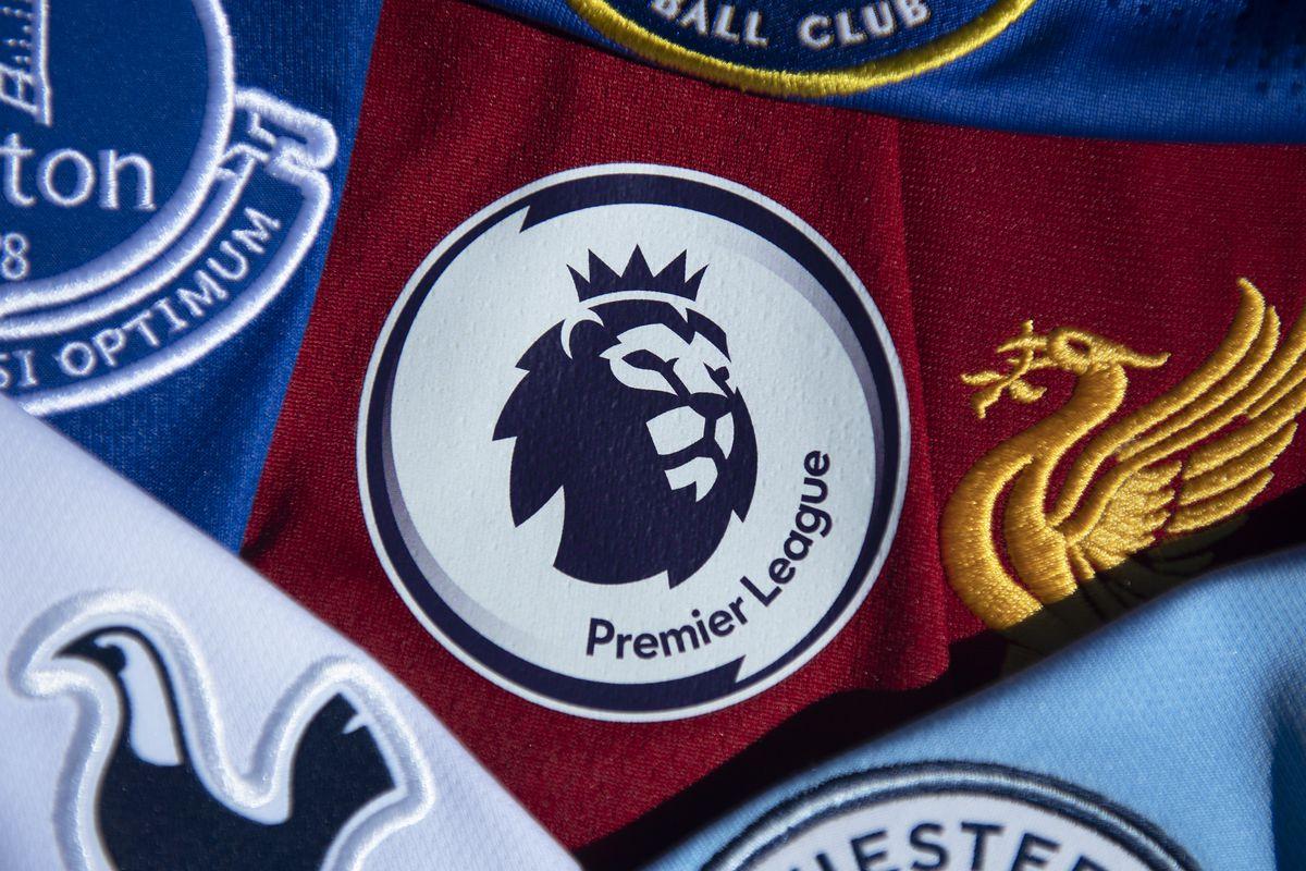 Premier League Logo With Club Shirts