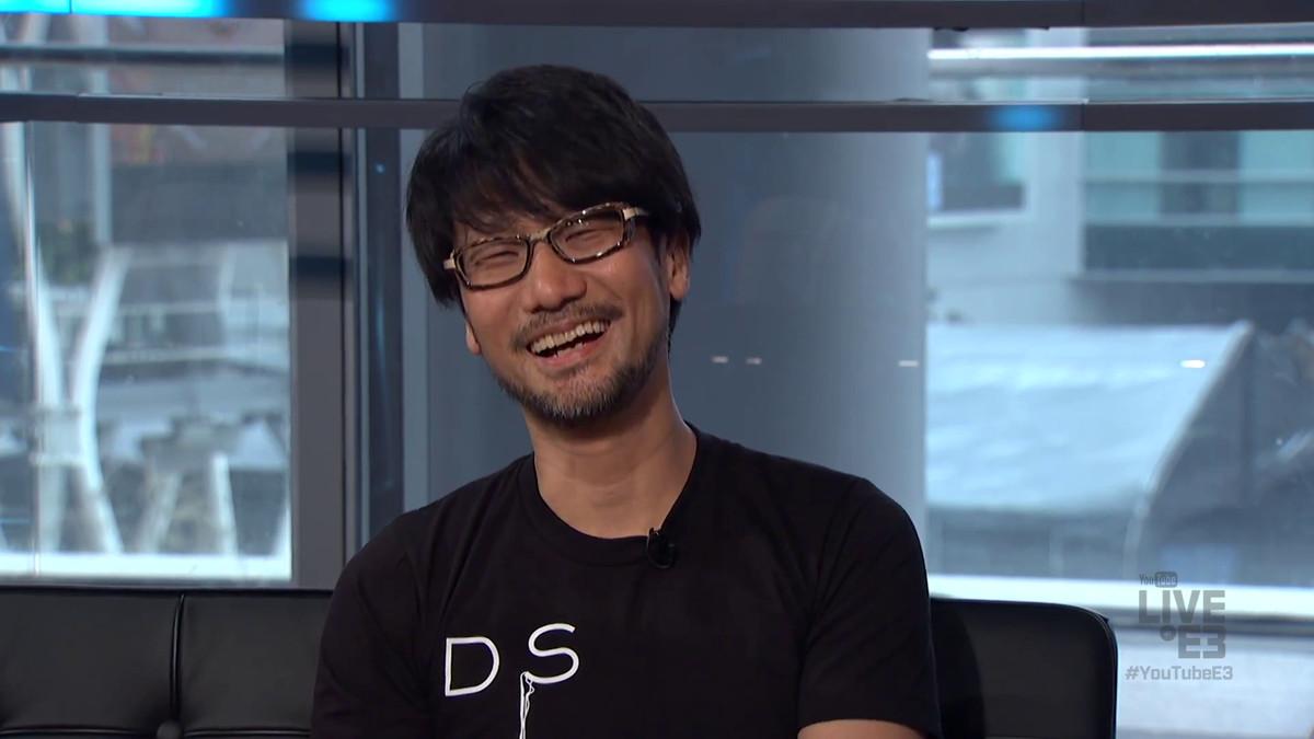 Kojima laughing