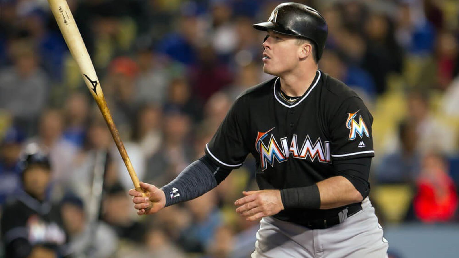 Giancarlo Stanton Stats 2017 >> Justin Bour to join Giancarlo Stanton in Home Run Derby - Fish Stripes
