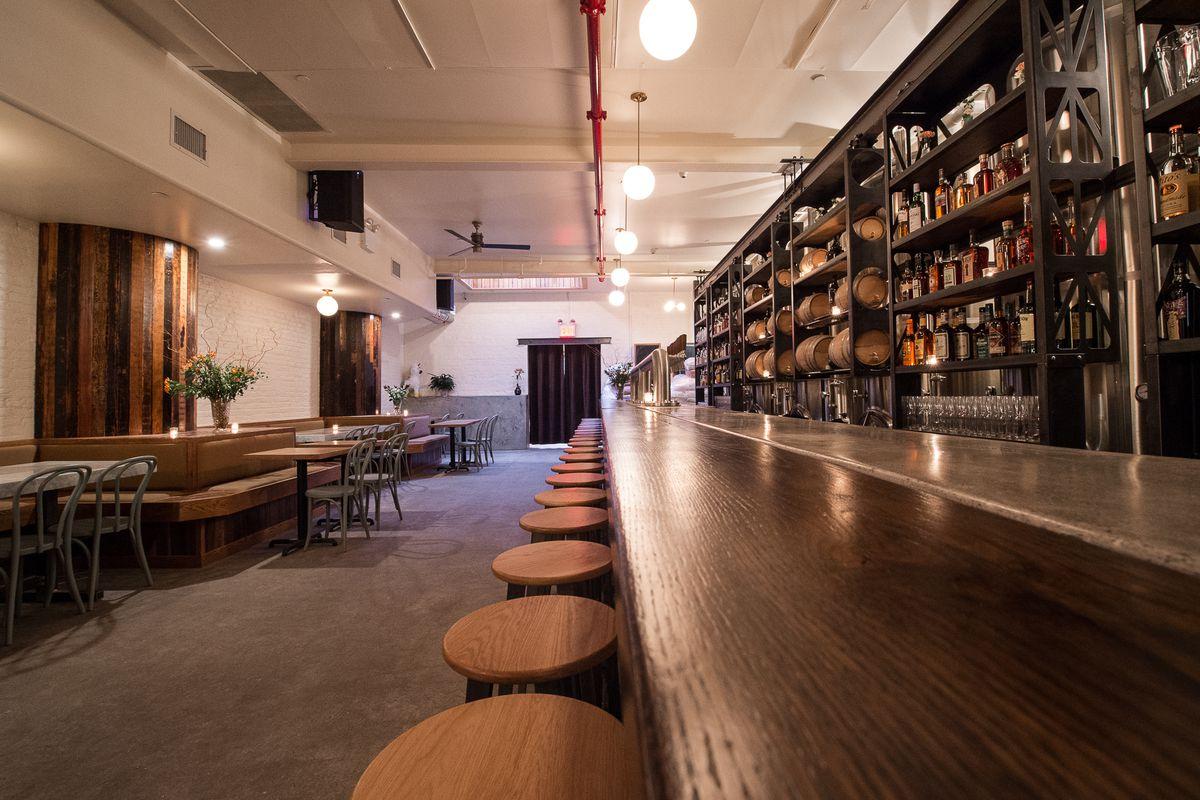 A stylish bar in Brooklyn