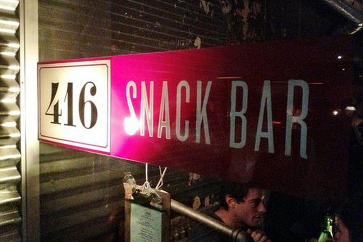 416 Snack Bar.