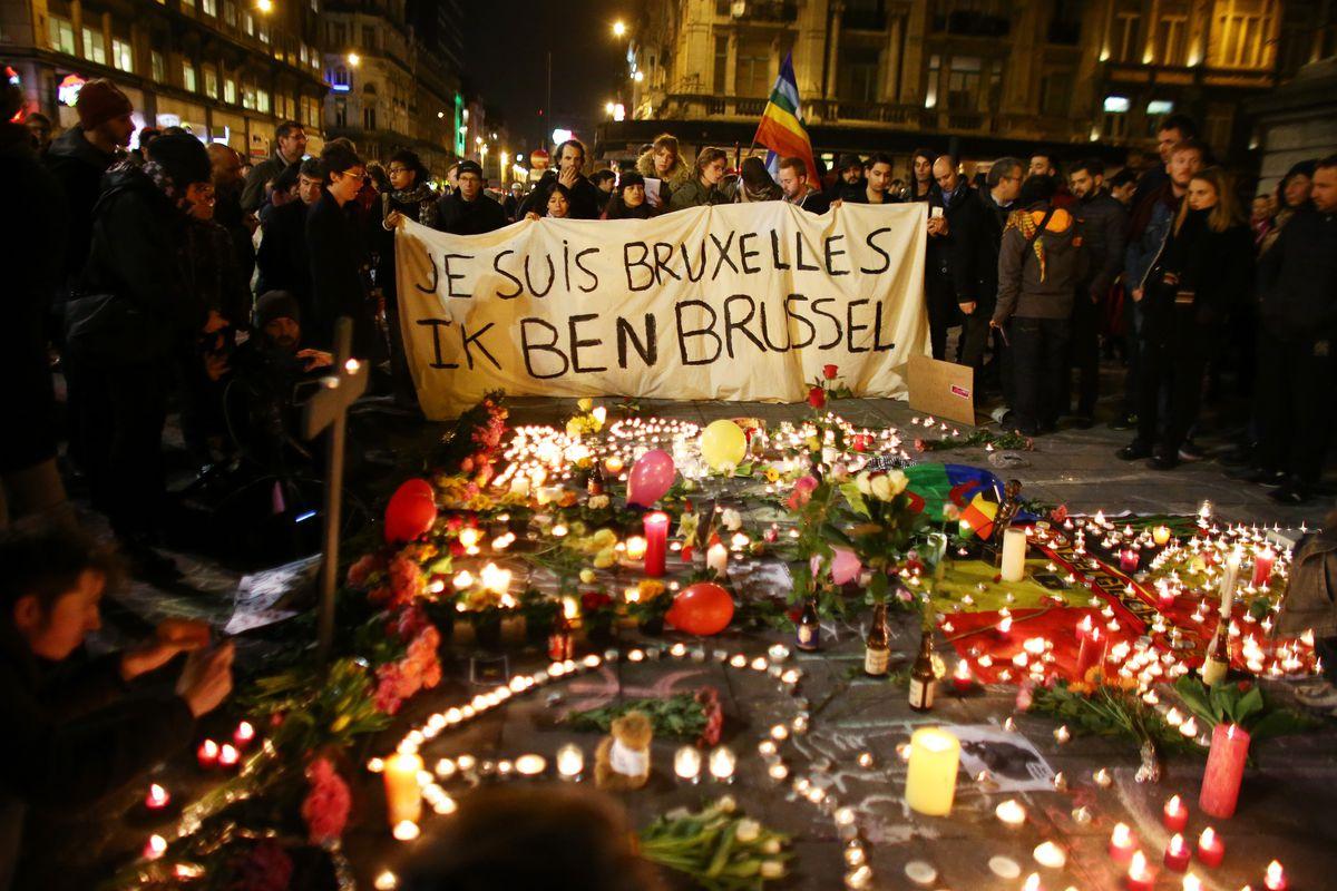 Brussels terrorist attack memorial