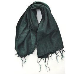 """Nepal Woven Scarf in Forest, <a href=""""http://alterbrooklyn.com/store/nepal-woven-scarf/dp/21443"""">$54</a> at Alter"""