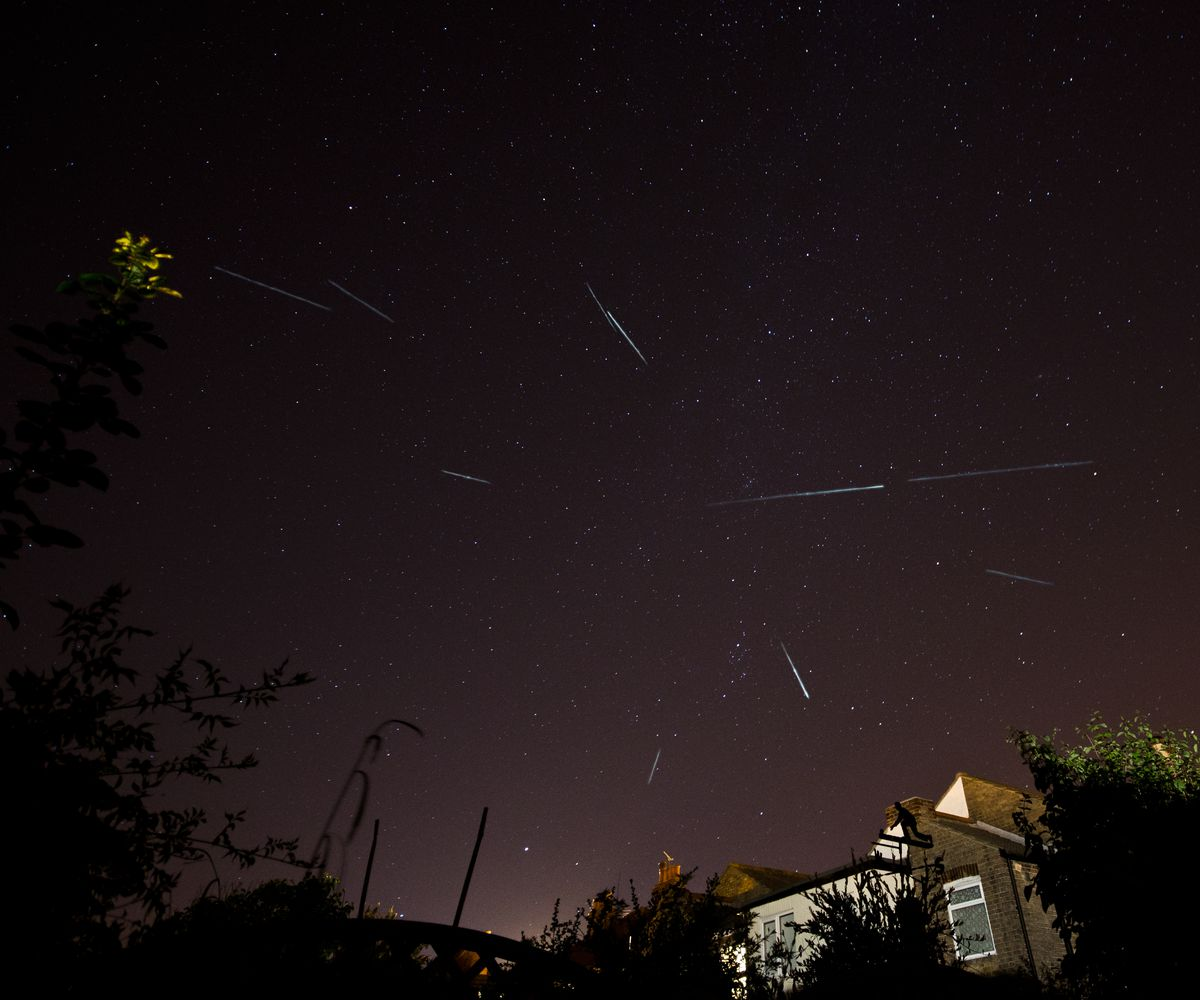 A photo of the 2012 perseid meteor shower