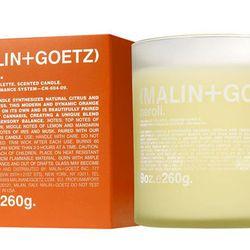"Sweet and peppery citrus: <b>Malin+Goetz</b> Neroli Candles, <a href=""http://www.malinandgoetz.com/candles/neroli-candle"">$52</a> for 9oz."