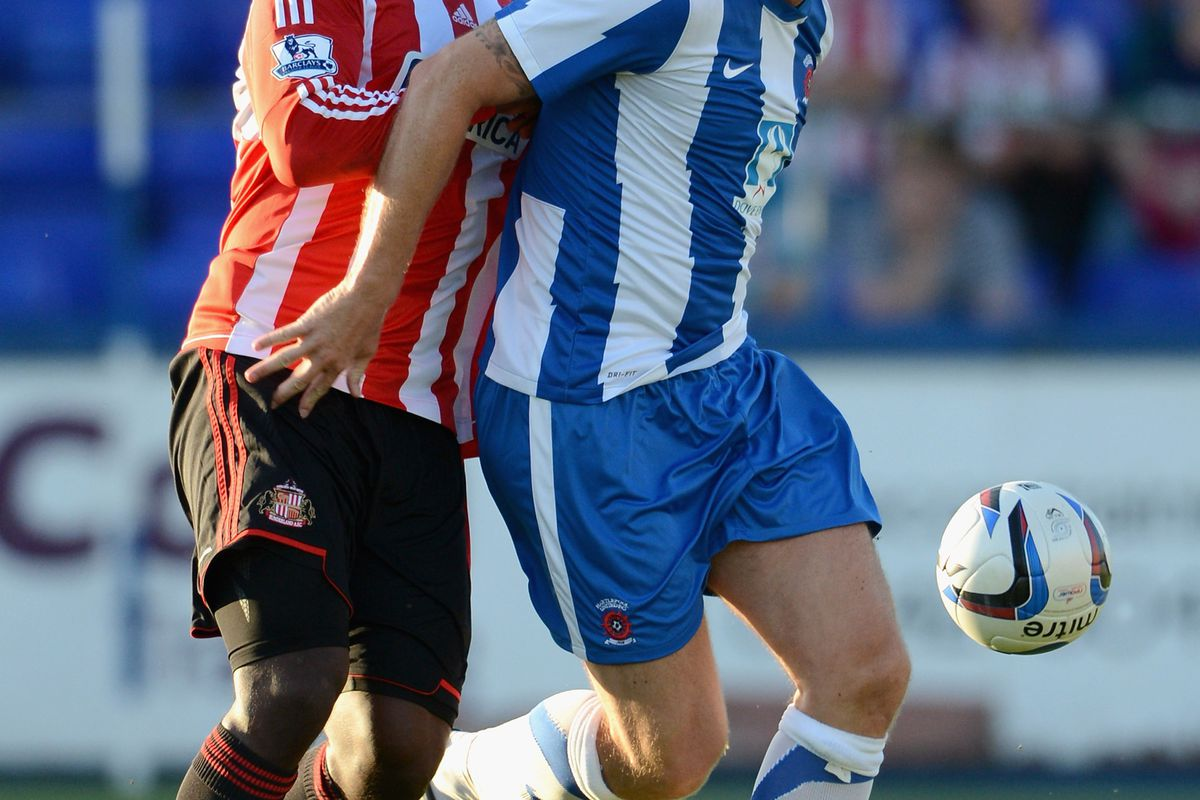 Steve Howard had Titus Bramble beaten at every opportunity as Hartlepool defeated Sunderland 1-0.