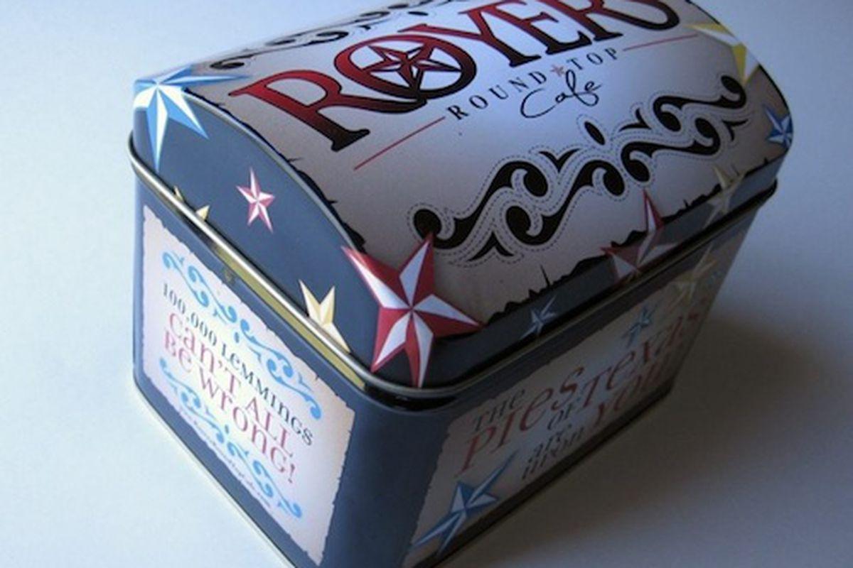 Royer's recipe box.