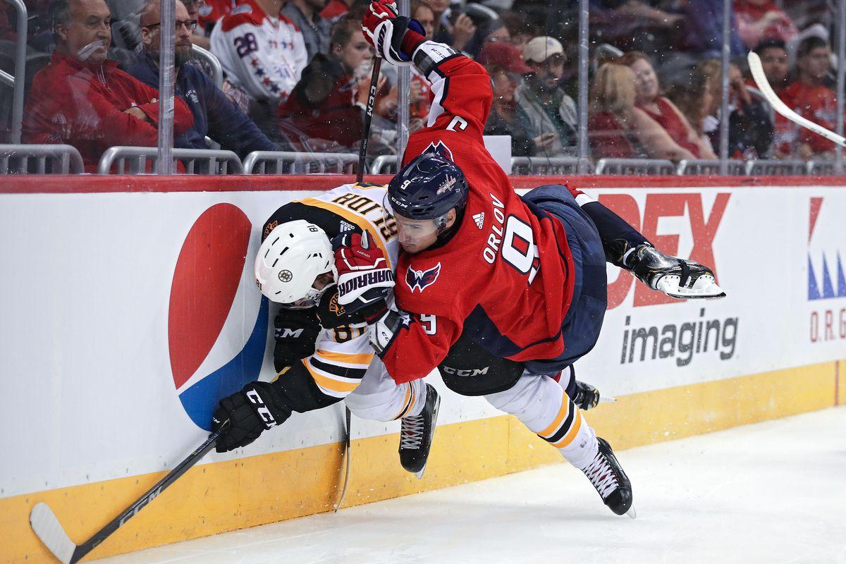 Caps vs. Bruins Recap  Rookies Go Splat 6a9f8f29afd