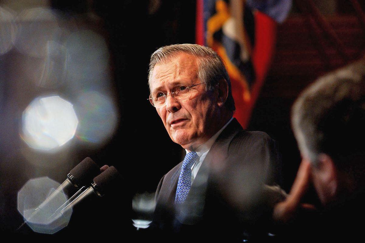 File: Donald Rumsfeld Obituary
