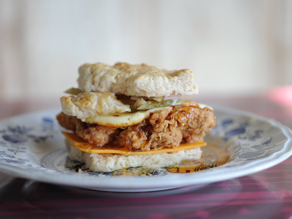 A Fried En Biscuit Sandwich At Sunrise Mempjis Photo Memphis Facebook