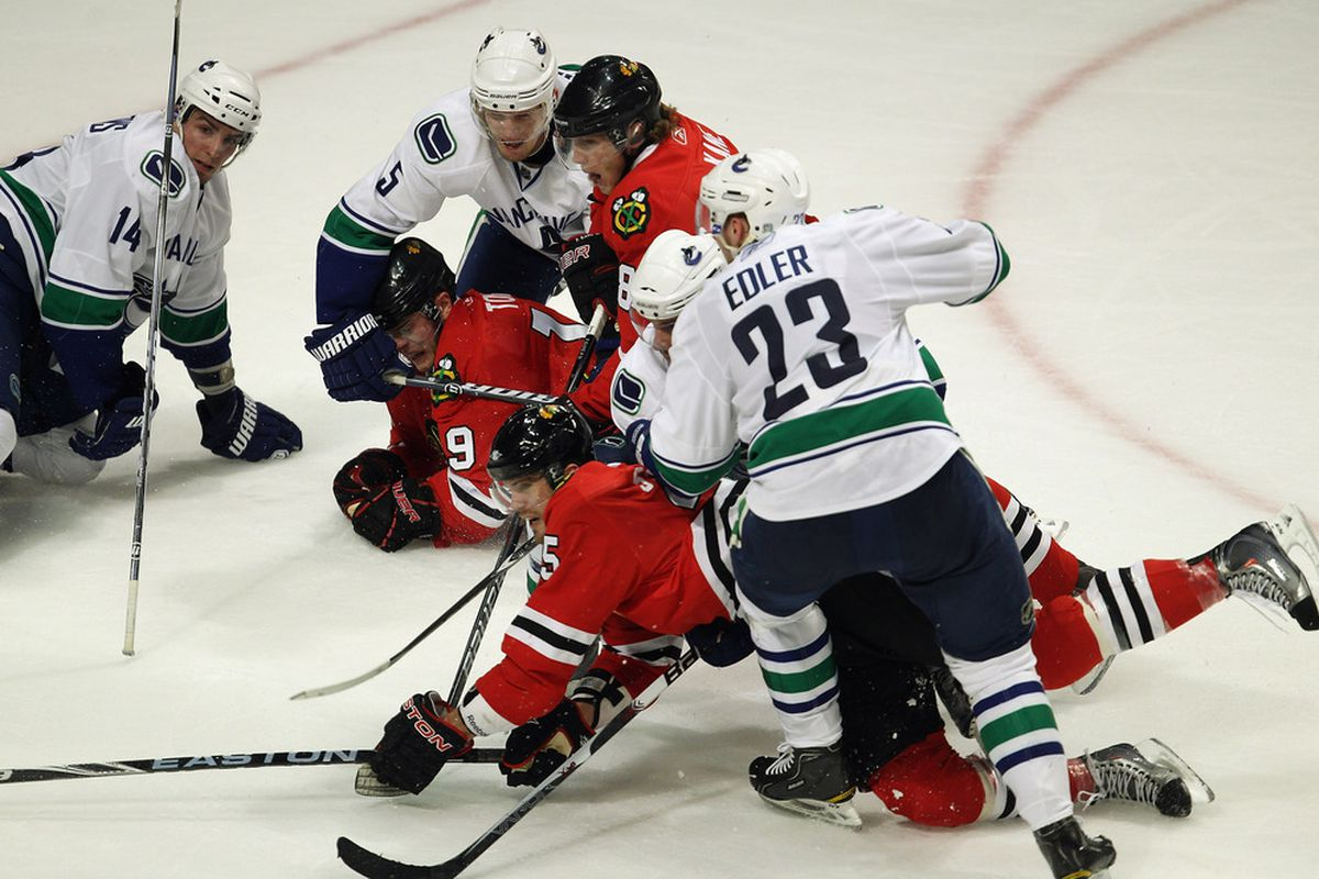 It's all on the line tonight in Vancouver between the Canucks and Blackhawks. Chicago has eliminated Vancouver each of the last two seasons, but the Canucks had the best record in the NHL this year.