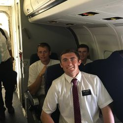 Four days after a decision to evacuate Puerto Rico due to the damage caused by Hurricane Maria, the final 118 Mormon missionaries from the San Juan mission boarded a plane to fly to Miami on Tuesday, Sept. 26, 2017.